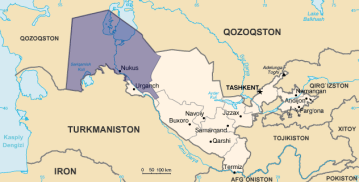 Karakalpakistan map