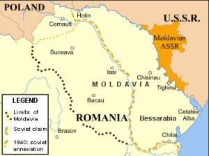 რუკაზე ნაჩვენებია მოლდოვის ავტონომიური რესპუბლიკა, რომელიც 1924 წელს მოსკოვმა აღმოსავლეთ მოლდოვის რუმინეთთან გაერთიანების საპასუხოდ შექმნა