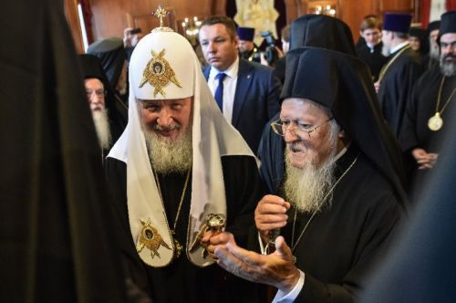 1 Bartholomew I of the Constantinople met with Russian Orthodox Patriarch Kirill in Istanbul